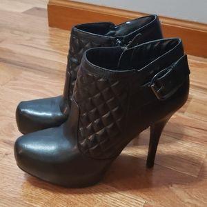Guess Black Bootie Heels